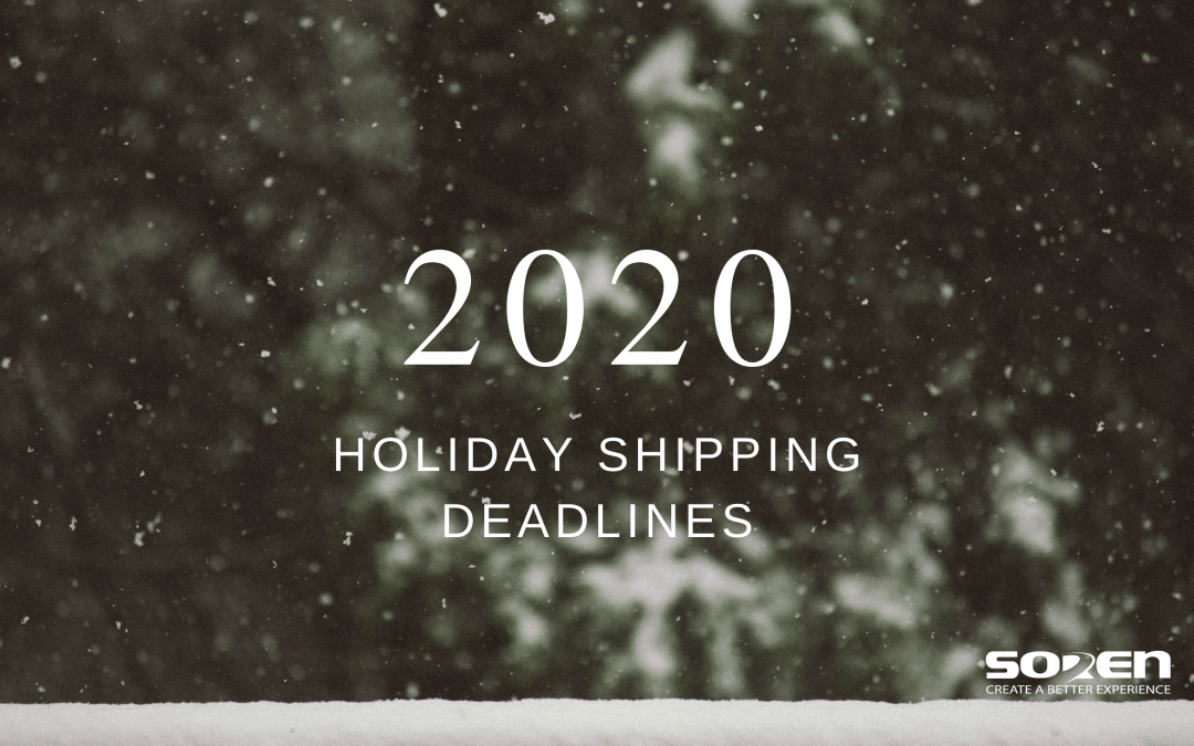 2020 Holiday Shipping Deadlines
