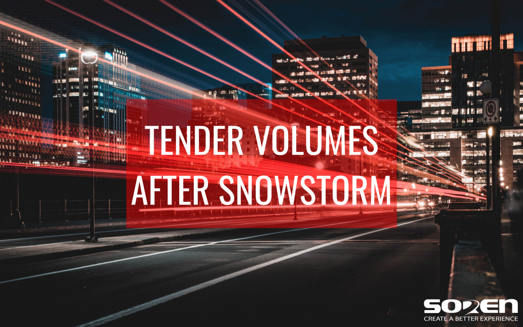 Tender Volumes after the Southern Snowstorm