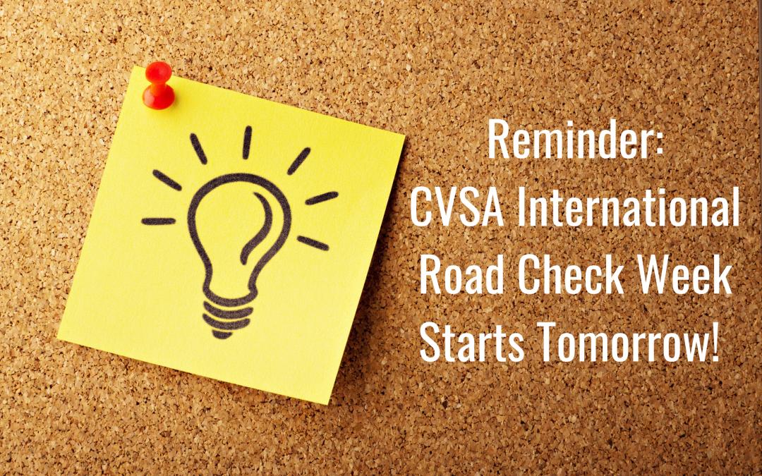 CVSA International Roach Check Week Starts 5/4