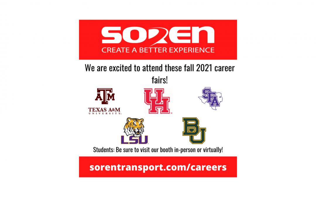Fall 2021 Career Fairs