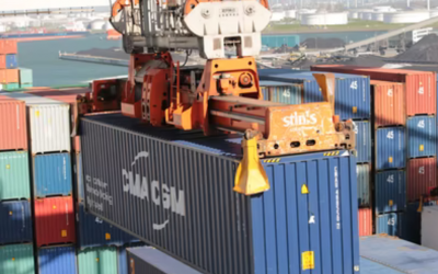 Containers Piling Up Off Ports